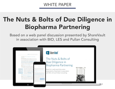 THE NUTS & BOLTS OF DUE DILIGENCE IN BIOPHARMA PARTNERING